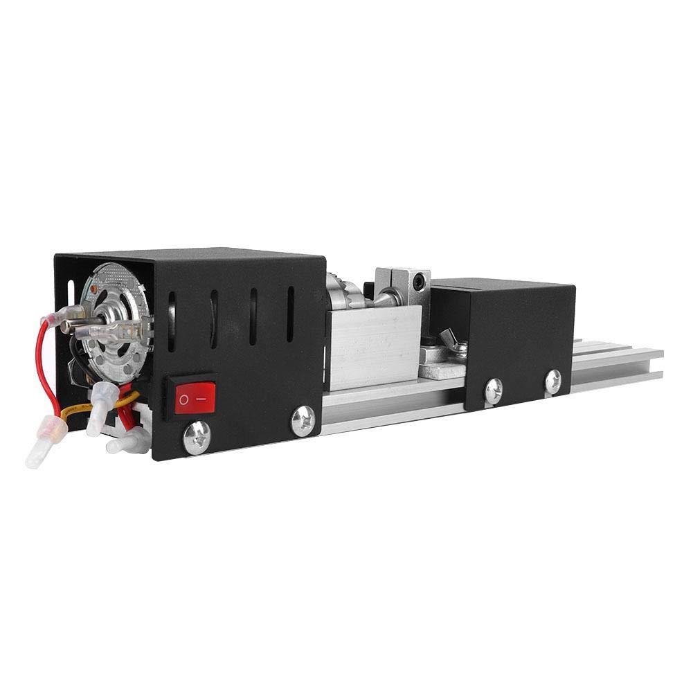#1 Mini Woodworking Lathe CNC Beads Machine DIY Woodworking Lathe Grinding Polishing Drill Tool with Power Adapter Drill Chuck Key