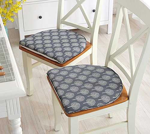 TMJJ Cotton Linen Thicken Dining Table Chair Pads Cushions,16.93