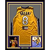 Framed Autographed/Signed Kobe Bryant 33x42 Los Angeles Lakers Yellow Basketball Jersey PSA/DNA COA