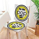 Mikihome Chair Pads 2 Piece Set Collection Party Music Night Club Bar Band Pop Dance Performance Festival Good Old Classic Desig Bistro Chair Cushion Mat:W17 x H17/Backrest:W17 x H36