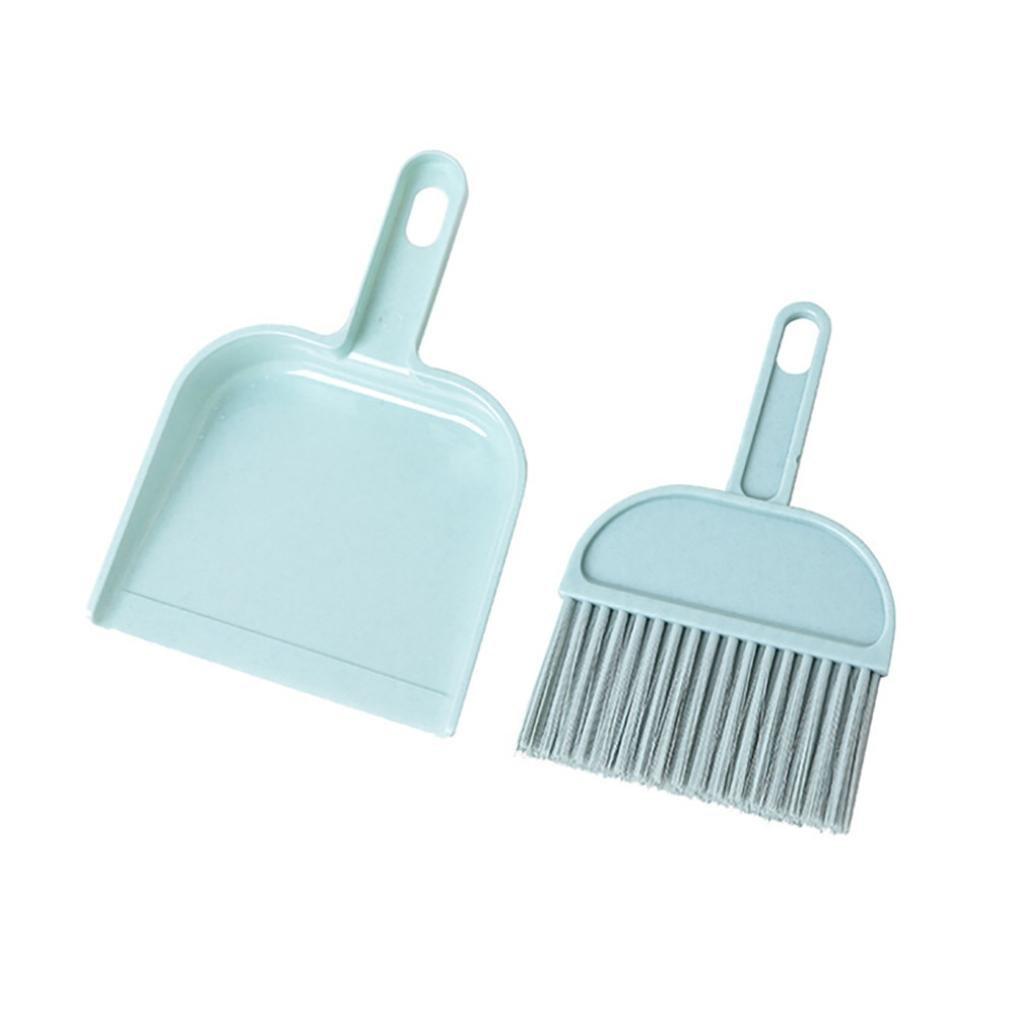 Mini Desktop Sweep Cleaning Brush Small Broom Dustpan Set (Pink ...