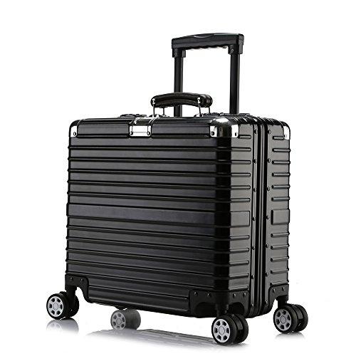 クロース(Kroeus)キャリーケース スーツケース TSAロック搭載 旅行 出張 大容量 復古主義 8輪 超軽量 機内持込可 B01NBOE9ZV  ブラック/機内持ち型 SS