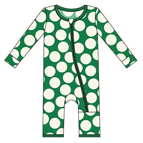 Kickee Pants Little Girls Print Coverall with Zipper - Ivy Mod Dot, 18-24 - Mod Pink Dots
