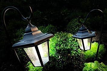 2er Set Xl Solarleuchten Led Solar Laterne Garten Metall Mit Haken