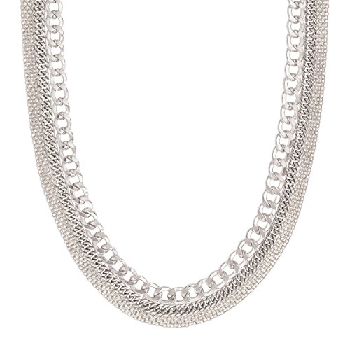 in' Statement Necklace in Sterling Silver ()
