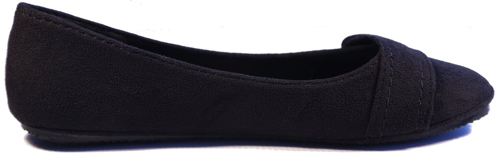 New Women Suede Flat Shoes B00JG7QNPY 7.5 B(M) US|Chess Blk