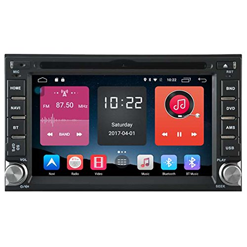 Autosion In Dash Android 6.0 Car DVD Player Sat Nav Radio Head Unit GPS Navigation Stereo for Hyundai Sonata Elantra Tucson Getz Santa Fe Sonica Support Bluetooth SD USB Radio OBD WIFI DVR 1080P by Autosion