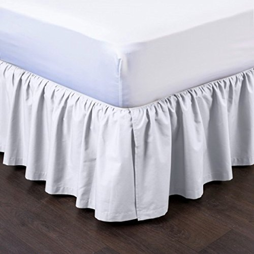 GorgeousHomeLinen  1 Solid Pleated Dressing Bed Skirt Soft