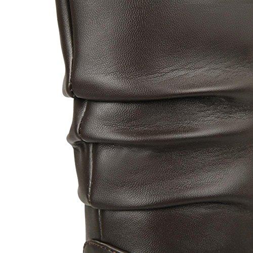 H HQuattro stagioni donne (nero. Rosso. Bianco. Marrone) interno elevato impermeabile tavolo pieghevole mezzo scarpa di gomma usura-resistenza skid , white , 37