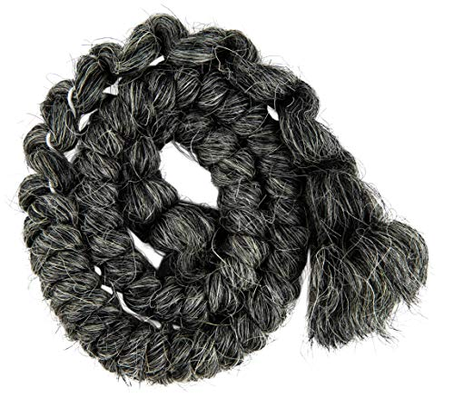 Mehron Makeup Crepe Hair 12-inch Braid (Dark -