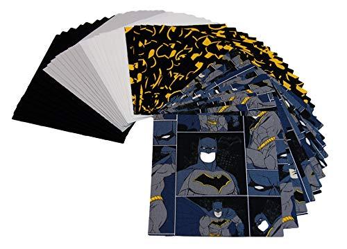 Super Hero Fabric - Batman Fabric - Spiderman Fabric - Charm Packs - Charm Packs for Quilting - Baby Fabric - Fabric Charm Packs - Quilt Kit (Batman 02)]()
