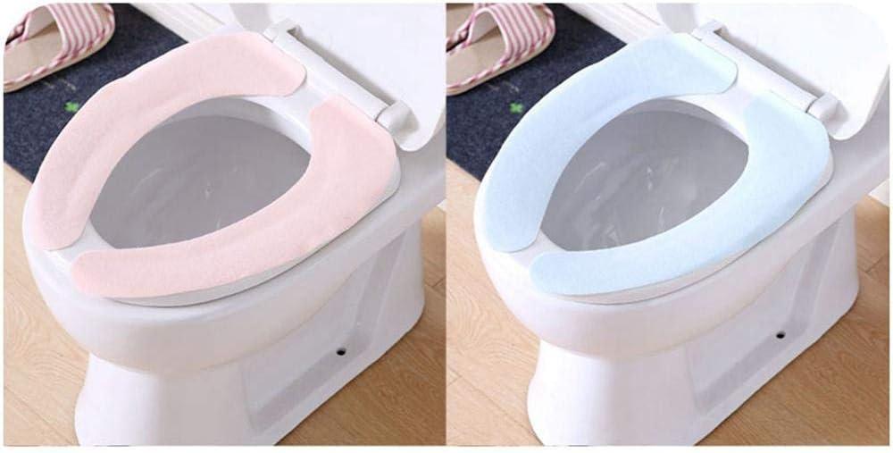 portatile riutilizzabile Luoji adatto per una variet/à di WC Coprisedile per WC impermeabile in silicone