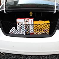 AndyGo Trunk Organizer Auto Car Interior Storage Mesh - Multipurpose Cargo Net Organizers in Black- Arrange Everything You Need Now!
