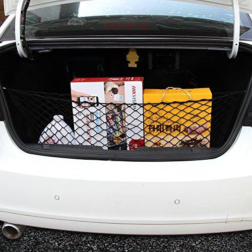 JessicaAlba Envelope Style Trunk Cargo Net for GMC Acadia Buick Enclave Chevrolet Chevy Traverse Equinox HHR Impala Tahoe Trailblazer Uplander (Chevy Equinox Cargo Net compare prices)
