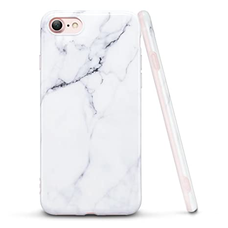 coque iphone 8 marbre blanc silicone