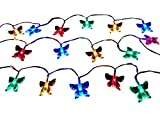 BUTTERFLY STRING LIGHTS: Butterfly Shaped Battery Powered LED Indoor String Lights With Steady And Flashing Modes
