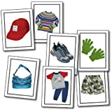 Carson Dellosa Key Education Nouns: Children's Clothing Learning Cards (845023)