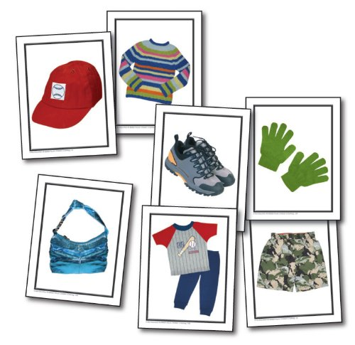 Nouns: Children's Clothing Learning Cards
