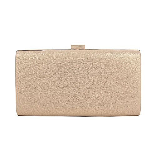 SHIMMER SATIN CLUTCH WOMEN BAG EVENING SPARKLY PROM Gold PARTY HOTSTYLEZONE WEDDING BOX tZ5qn6wS11