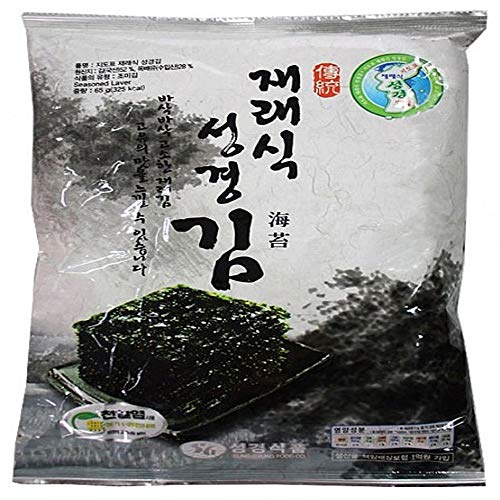 Traditional Type Seaweed Laver 60g, Product of Korea by Sung Gyung Food