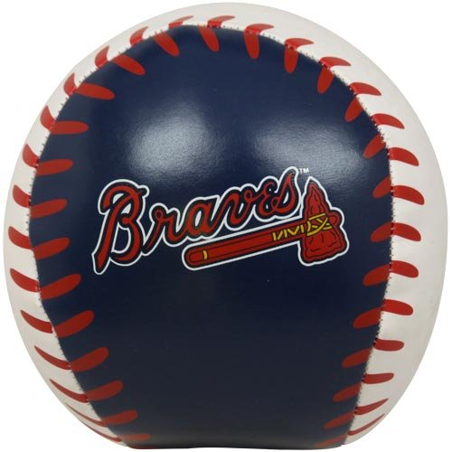 MLB Atlanta Braves Quick Toss Softee Baseball, Blue, 4''