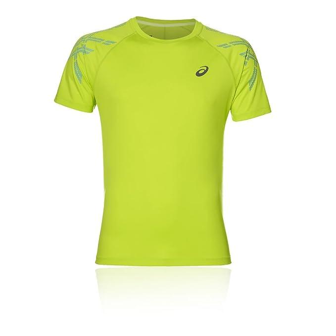 Asics Essentials Stripe SS Camiseta para Correr - XS
