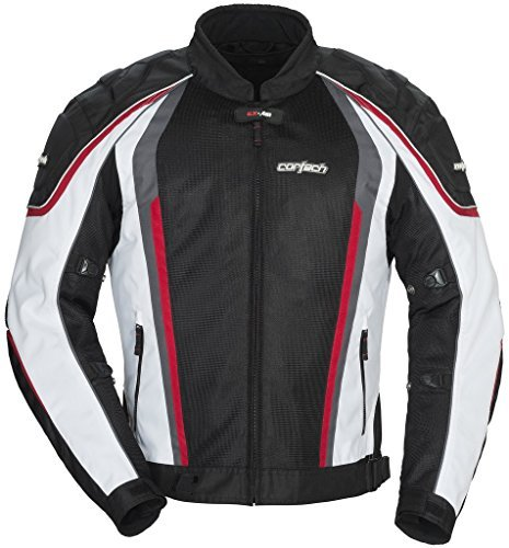 Cortech GX Sport Air 4.0 Adult Mesh Road Race Motorcycle Jacket - White/Black / Small by Cortech