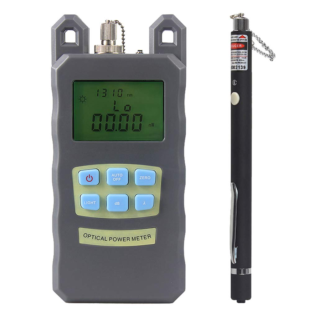 Prettyia 1Set Portable Optical Fiber Power Meter Tester Measure -70dBm~+10dBm + 10mW 10KM Visual Fault Locator Fiber Tester Detector Meter Pen by Prettyia (Image #4)