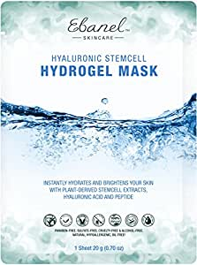(5 Sheets) Stem Cell Hydro Gel Masks with Collagen Hyaluronic Acid Peptide and Stem Cell Extracts