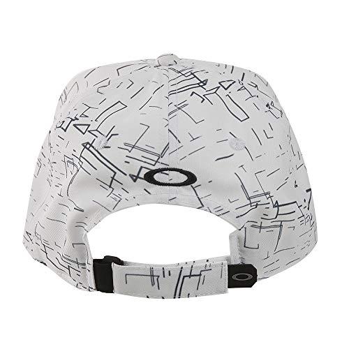 オークリー Skull 帽子 スカル グラフィック キャップ ホワイトプリント フリー