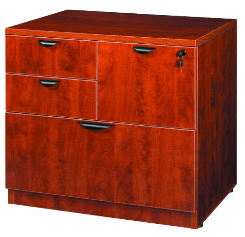Boss Office Products N114-C Combo Lateral File in Cherry - Laminate Office Furniture