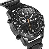 INFANTRY Big Face Mens Military Tactical Watch Black Stainless Steel Wrist Watches for Men Heavy Duty