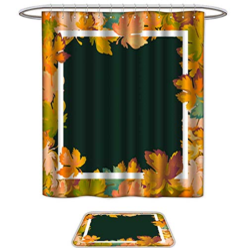 Bathroom Sets Non SlipAutumn background layout decorate leaves shopping sale or promo poster and white frame leaflet web banner Vector illustration template Red yellow and green maple leaf1. Bath Ma -