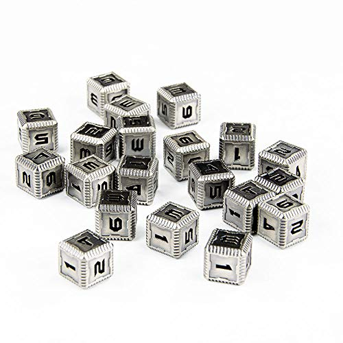 Saberforge Steel Six Sided Dice (20 Pack) (Steel) for sale  Delivered anywhere in USA