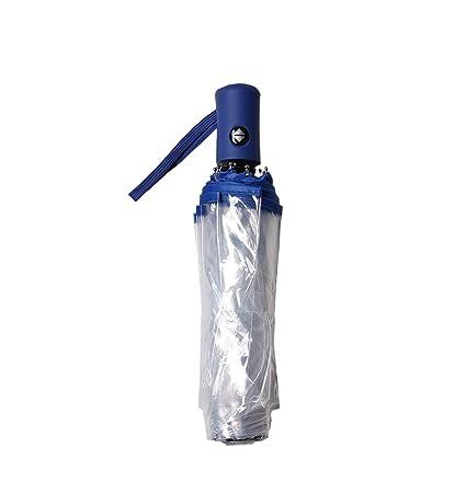 Paraguas automático de la Auto-Cierre de sombrilla Transparente Plegable Masculino Creative Creative pequeño (