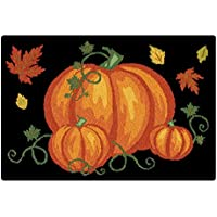 C&F Home Pumpkin Patch Halloween Hooked Rug, 2 x 3, Black