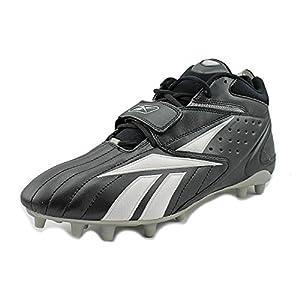 REEBOK MENS PRO FULL BLITZ STRAP MP BLACK WHITE SILVER MOLDED FOOTBALL CLEAT 13M