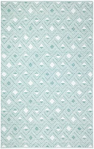 Safavieh Montauk Collection MTK614G Light Green and Ivory Area Rug 8 x 10