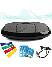 Bluefin Fitness Dual Motor 3D Power Vibration Plate | Oscillation, Vibration + 3D Motion | Huge Anti-Slip Surface | Bluetooth Speakers | Lose Fat & Tone Up at Home | UK Design