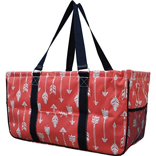 N. Gil All Purpose Open Top 23'' Classic Extra Large Utility Tote Bag 2 (Arrow Coral)