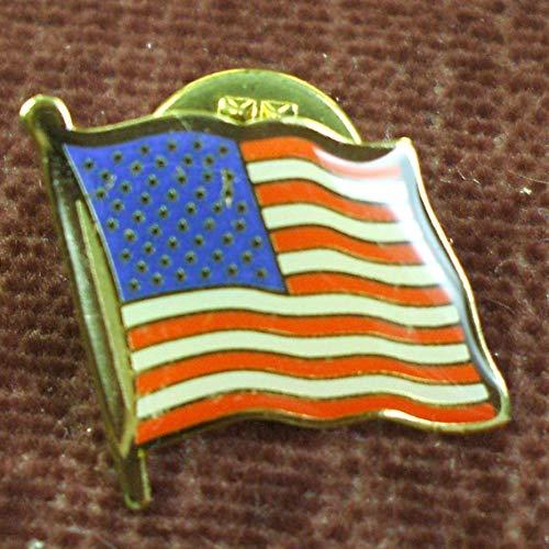 lot of 10 American Flag enameled Lapel pins