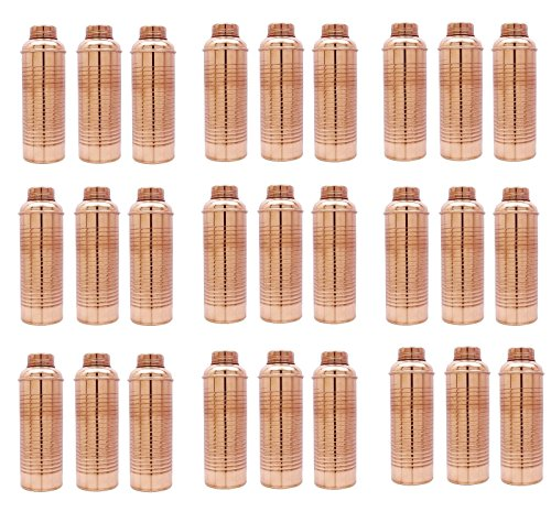 50 PC Ayurvedic Health Benefits Water Storage Flask Traditional Copper Bottle by panchal creation
