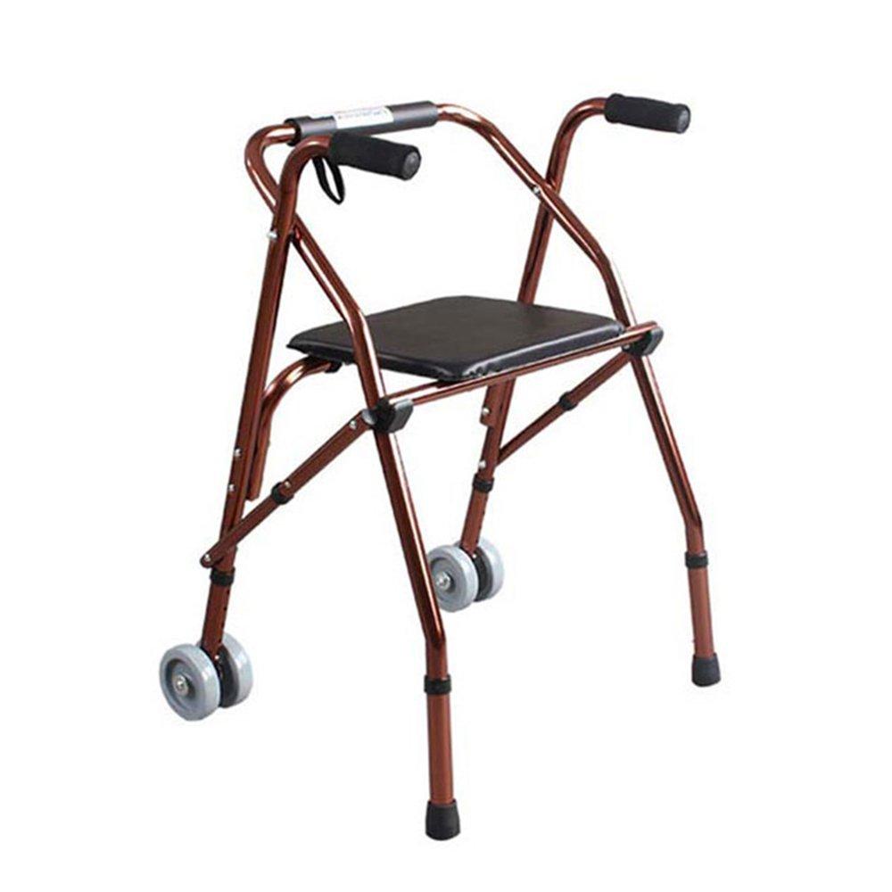 トイレシート アルミ多機能ウォーカー折りたたみ調節可能なウォーキングエイドクッションと高齢者のためのホイール B07DN44NG9