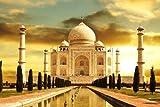 Taj Mahal India - Art Print Poster,Wall Decor,Home Decor(36x24 inches)