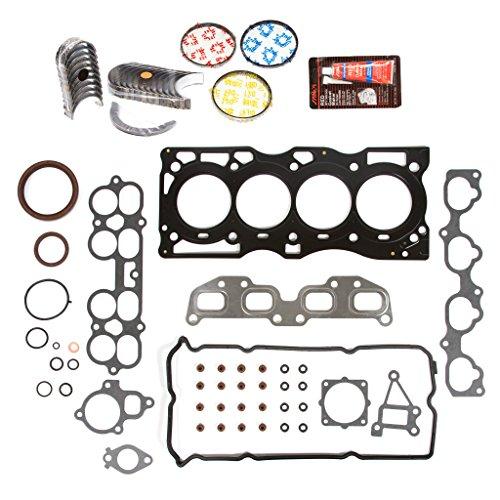 (Evergreen Engine Rering Kit FSBRR3032EVE\0\0\0 Fits 02-06 Nissan Altima Sentra 2.5 QR25DE Full Gasket Set, Standard Size Main Rod Bearings, Standard Size Piston Rings)