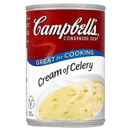 Crema de Campbell de apio condensada sopa 295g