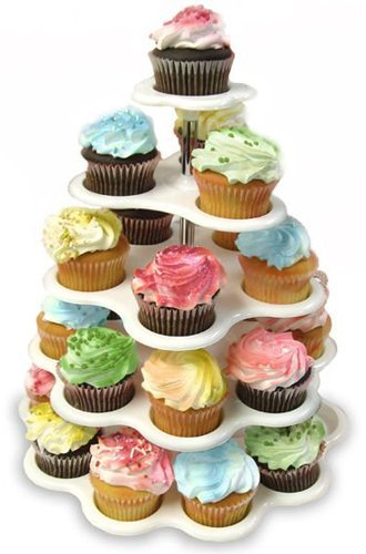 Plastic Cupcake Dessert Stand with 5 Tiers