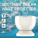 Gideon DreamWave Soothing Ocean Wave Projector LED Night Light with Built-in Stereo Speakers / (12 LED Bulbs - 3 Colors) Water Wave LED Ceiling Projector for Children - Connects with Any Audio Device