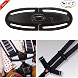 car seat latch clip - Universal Baby Chest Harness Clip, Silence Shopping Baby Car Seat Safety Belt Clip Buckle Lock Tite Toddler Chest Harness Clip Black 2 Packs
