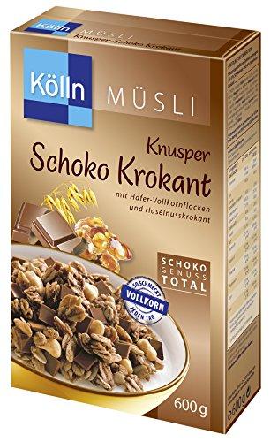 Kölln Müsli Knusper Schoko Krokant,4er Pack (4x 600 g)